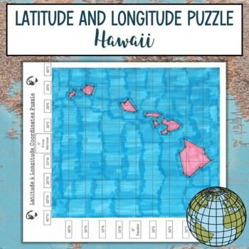 Latitude and Longitude Practice Puzzle Hawaii