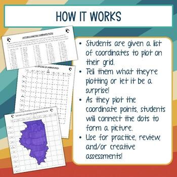 Latitude and Longitude Practice Puzzle Illinois