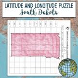 Latitude and Longitude Practice Puzzle South Dakota