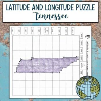 Latitude and Longitude Practice Puzzle Tennessee