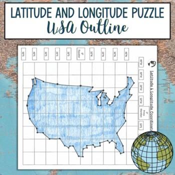 Latitude and Longitude Practice Puzzle United States