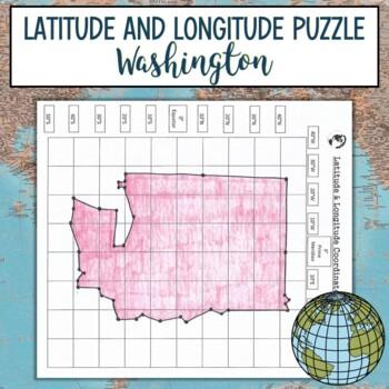 Latitude and Longitude Practice Puzzle Washington