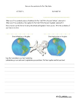 Latitude and Longitude Printables / Worksheets
