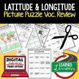 Latitude and Longitude Activity Picture Puzzle, Test Prep,