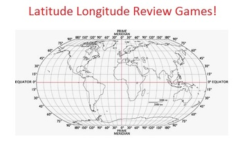 Latitude and Longitude Review Games