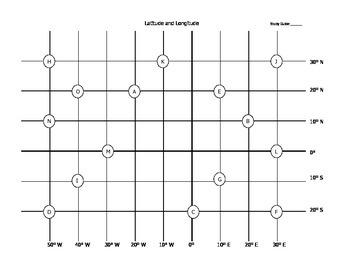 Latitude and Longitude Study Guides Series I