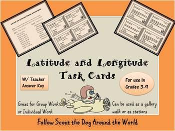 Latitude and Longitude Card Set