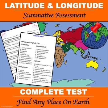 """Latitude and Longitude """"Test"""""""