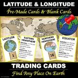 """Latitude and Longitude """"Vocabulary Cards"""""""