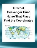 Latitude and Longitude Webquest or Internet Scavenger Hunt  Grades 5-10