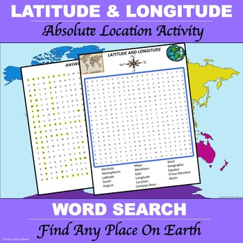 "Latitude and Longitude ""Word Search"""