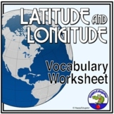 Latitude and Longitude Worksheet and Handout - Understanding Terms