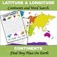 "Latitude and Longitude ""Continents of the World"""
