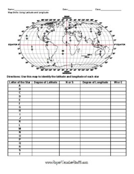 Latitude and Longitude Worksheet 1