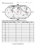 Latitude and Longitude Worksheet & Answer Key