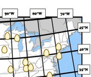 Latitude and Longitude Activity - Farms, USA