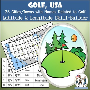 Latitude and Longitude Activity - Golf, USA