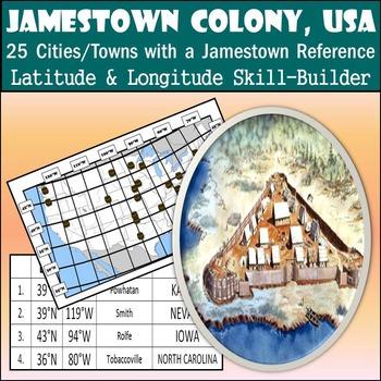Latitude and Longitude Activity - Jamestown Colony, USA