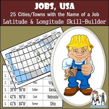 Latitude and Longitude Activity - Jobs, USA