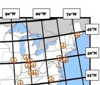 Latitude and Longitude Activity - Pleasantville, USA