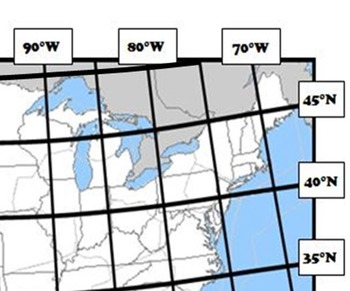Latitude and Longitude Activity - Thanksgiving, USA