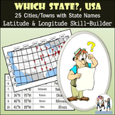 Latitude and Longitude Activity - Which State?, USA