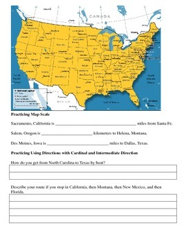 Latitude/Longitude, Comparing Geographical Locations, and Map Scale Review Sheet