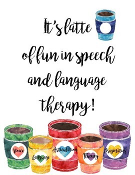 Latte of Fun in Speech Language Therapy Poster