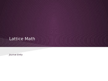 Lattice Math (Multiplication)