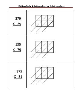 Lattice Method Math 3-digit by 2-digit