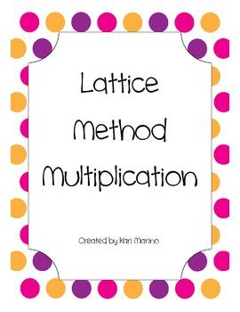 Lattice Method Multiplication Worksheets