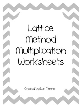 Lattice Method Multiplication Worksheets Everyday Math