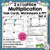 Lattice Multiplication 2x1 Digit Multiplication Task Cards Lattice Method Set 1