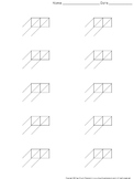 Lattice Multiplication: Blank Practice Sheet 2-digit by 1-digit Multiplication