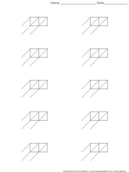 Lattice Multiplication: Blank Practice Sheet 2-digit by 1-