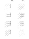 Lattice Multiplication: Blank Practice Sheet 2-digit by 2-digit Multiplication