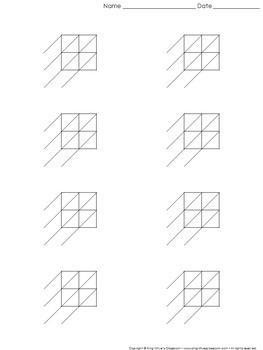 Lattice Multiplication: Blank Practice Sheet 2-digit by 2-
