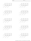 Lattice Multiplication: Blank Practice Sheet 3-digit by 1-digit Multiplication