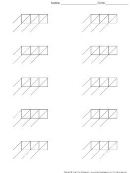 Lattice Multiplication: Blank Practice Sheet 3-digit by 1-