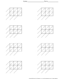 Lattice Multiplication: Blank Practice Sheet 3-digit by 2-digit Multiplication