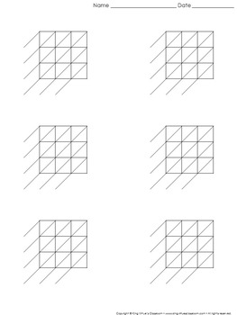 Lattice Multiplication: Blank Practice Sheet 3-digit by 3-digit Multiplication