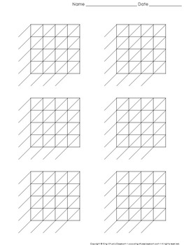Lattice Multiplication: Blank Practice Sheet 4-digit by 4-digit Multiplication
