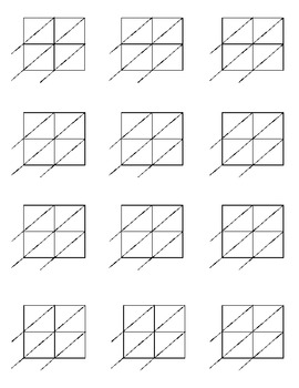 math worksheet : lattice multiplication blank forms for 2x2 and 2x3 multiplication : Blank Lattice Multiplication Worksheets