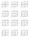 Lattice Multiplication: Blank forms for 2x2 and 2x3 multip
