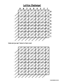 Lattice Multiplication Challenge