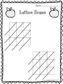 Lattice Multiplication Empty Boxes