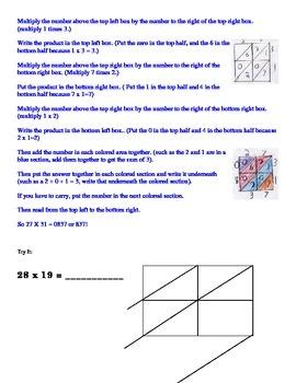 Lattice Multiplication Practice