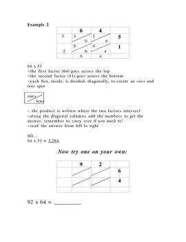 Lattice Multiplication - Website & Practice