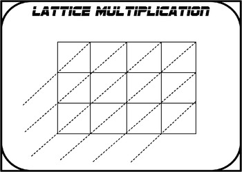 Lattice Multiplication Work Mats