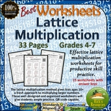 Best Lattice Multiplication Worksheets - Multiplication Review and Practice